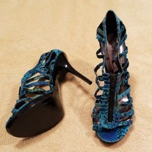 Bakers Caylee Turquoise Cage Heels in 10B